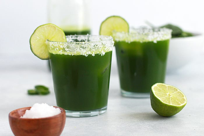 green margarita mocktail featured - recipe - FitLiving Eats by Carly Paige