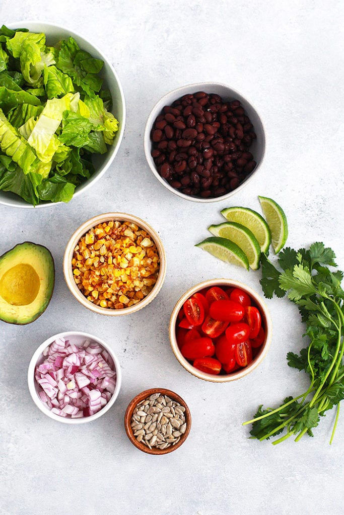 mexican cobb salad ingredients recipe - FitLiving Eats by Carly Paige