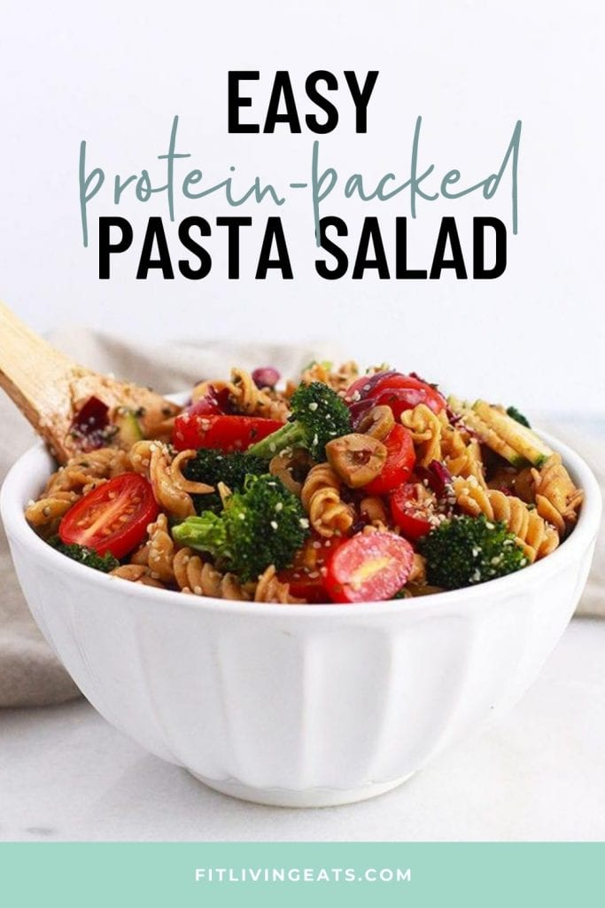 Easy Protein Packed Pasta Salad - 1