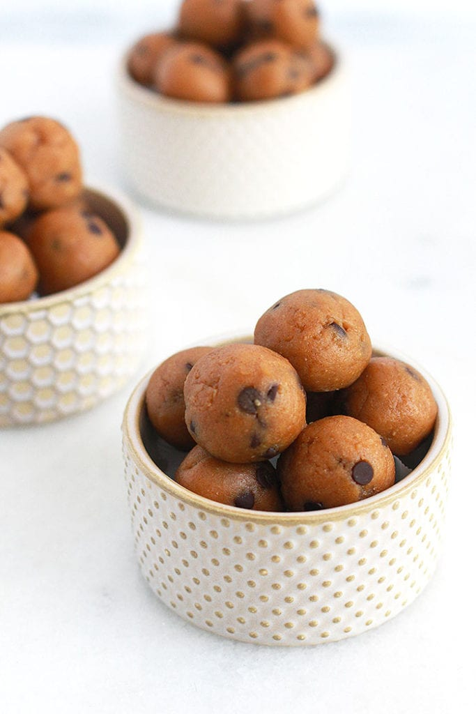 cookie dough energy bites 3 Recipe - FitLiving Eats by Carly Paige