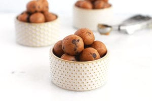 cookie dough energy bites featured Recipe - FitLiving Eats by Carly Paige
