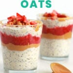 pbj overnight oats recipe - FitLiving Eats by Carly Paige - PIN-01