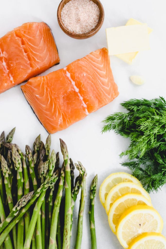 Salmon and Asparagus Parchment Packs - FitLiving Eats by Carly Paige