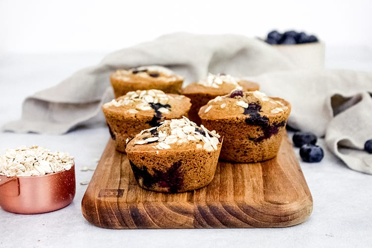 Bakery-Style Almond Blueberry Muffins Gluten Free Recipe 6 - FitLiving Eats
