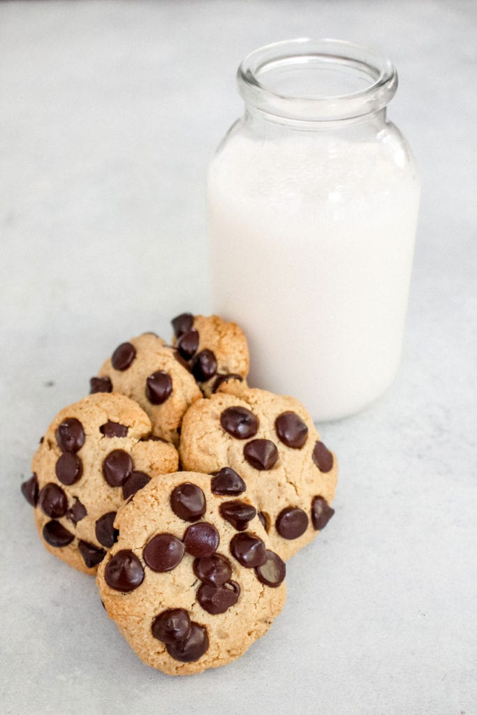 vegan chocolate chip cookies recipe - fitliving eats by carly paige