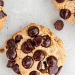 vegan chocolate chip recipe - fitliving eats by carly paige - featured image