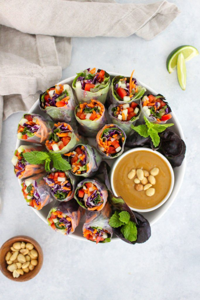 Healthy-Vegetable-Summer-Rolls-Recipe---FitLiving-Eats-by-Carly-Paige-1
