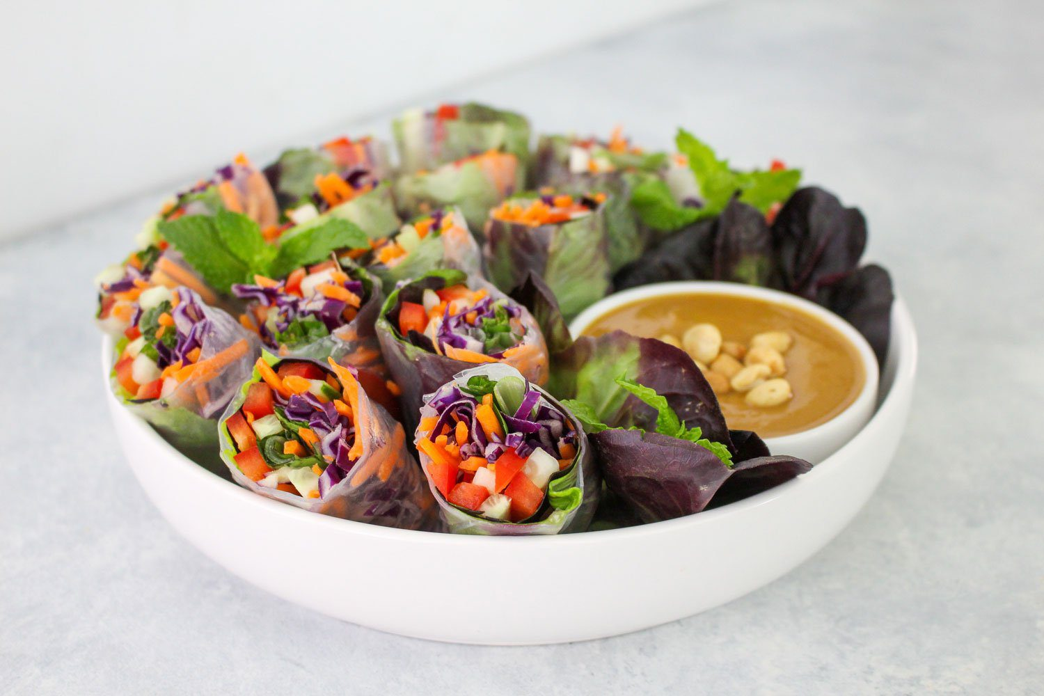 Healthy-Vegetable-Summer-Rolls-Recipe---FitLiving-Eats-by-Carly-Paige-Featured