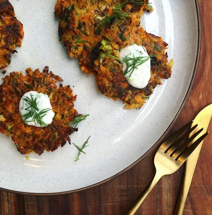 Vegan-&-Gluten-Free-Sweet-Potato-Latkes Recipe - FitLiving-Eats-by-Carly-Paige