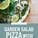 Garden Salad Pizza with Pumpkin Seed Pesto Recipe - FitLiving Eats 3