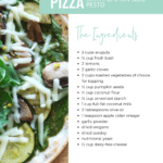 Garden Salad Pizza with Pumpkin Seed Pesto Recipe - FitLiving Eats 6