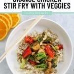 Healthier Orange Chicken Stir Fry with Veggies Recipe 1