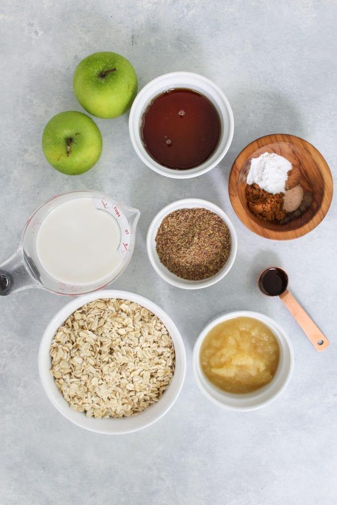 apple cinnamon oatmeal cups ingredients