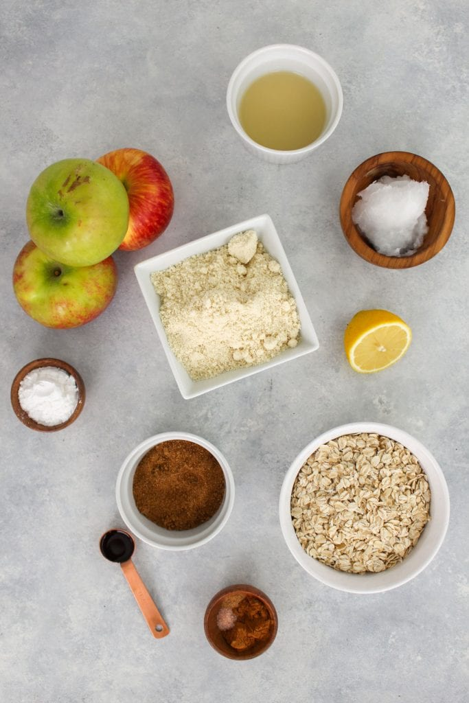apple pie bars ingredients - healthy swaps