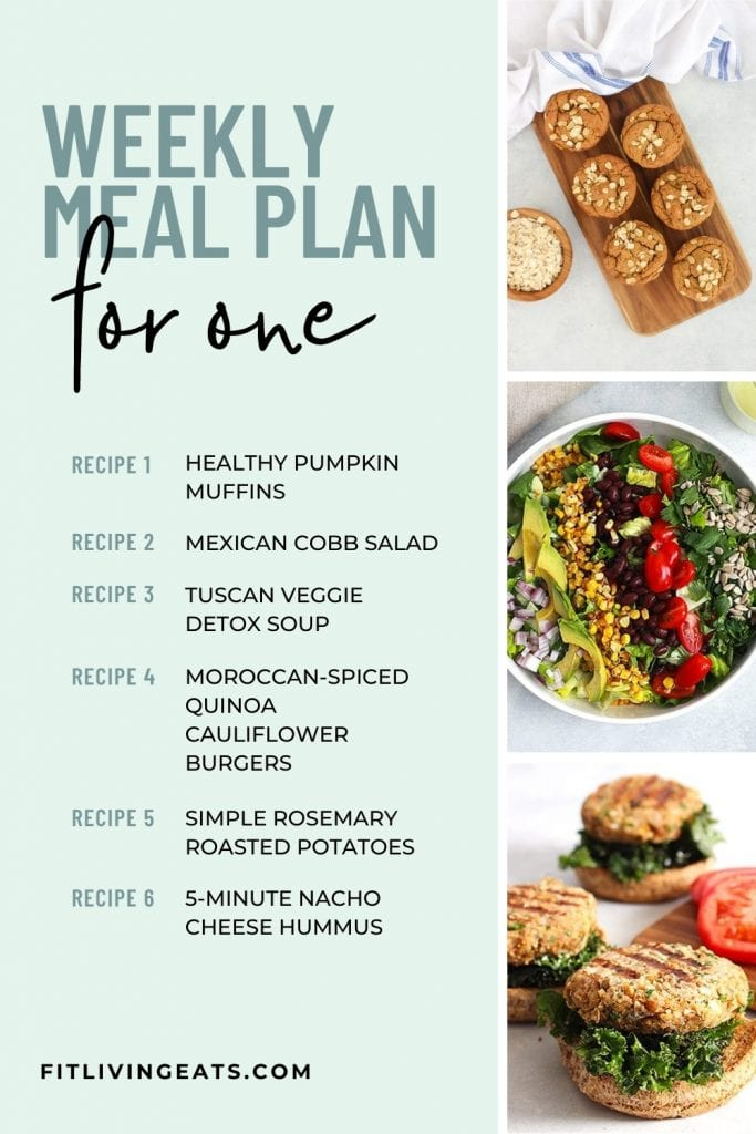Meal Plan for One Week 2 - 5