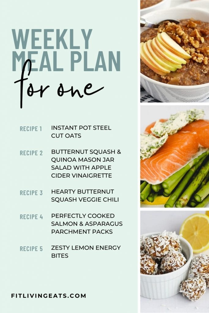 Weekly Meal Plan for One -1 - 5
