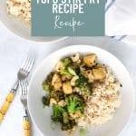 Easy Broccoli Tofu Stir Fry Recipe Pinterest Image