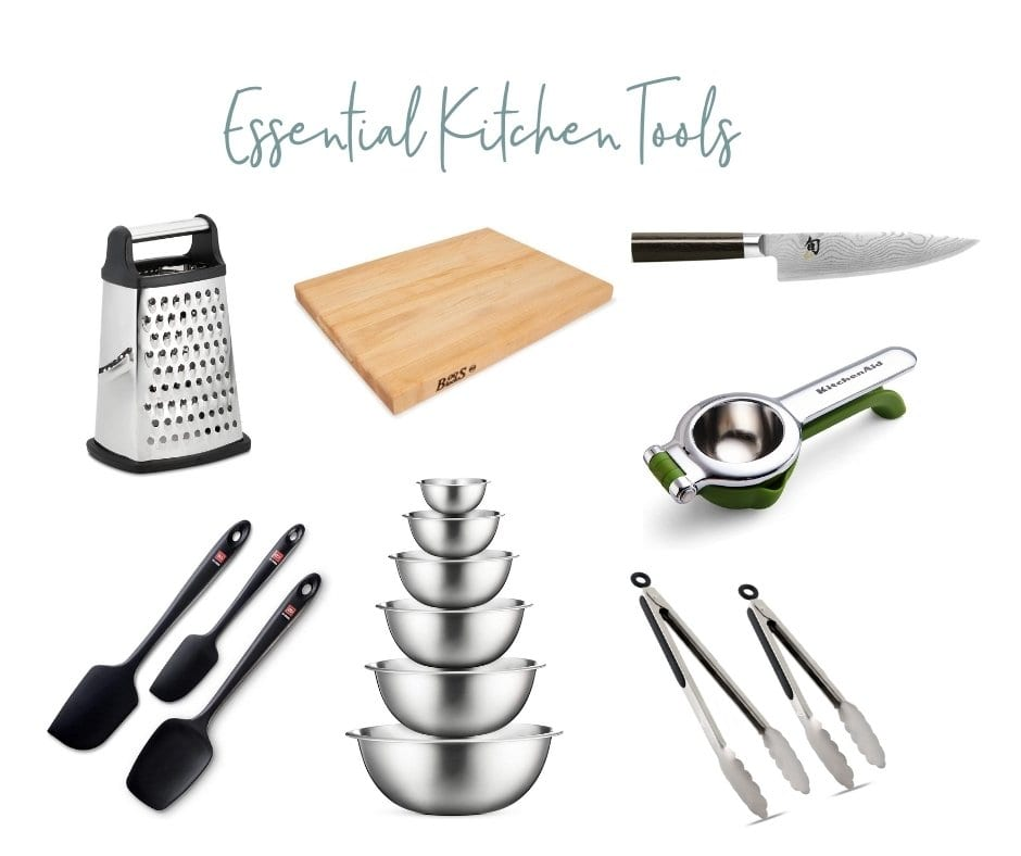 assortment of kitchen tools for your bridal registry