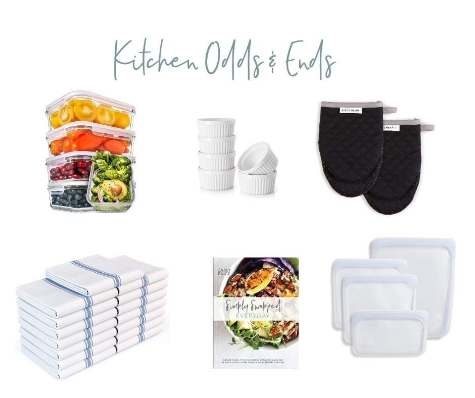assortment of kitchen odds and ends to add to your registry